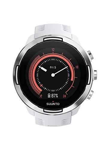 Suunto 9 Baro Reloj Multideporte GPS sin cinturón de frecuencia cardíaca, Unisex Adulto, Blanco, 24.5 cm