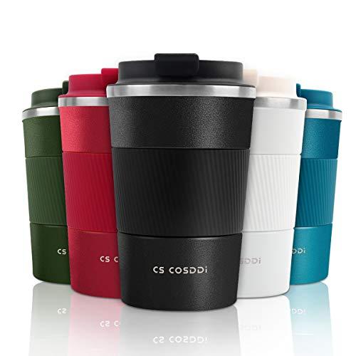 CS COSDDI Tasse à café, Tasse de café isolée Tasse de Voyage en Acier...