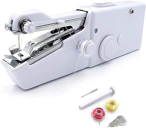 Moonmoonlala Mini macchina da cucire portatile elettrica macchina da cucire (con spina europea), per tessuto, abbigliamento, tende, fai da te per uso domestico e in viaggio