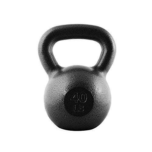 CAP Barbell Cast Iron Kettlebell, 40 Pounds