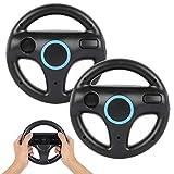 Volant pour Nintendo Wii (2 PCS), PowerLead Volant pour Mario Kart Racing,...