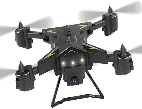 Drone Pieghevole da 4K Pieghevole, con Fotocamera HD GPS Posizionamento preciso Posizionamento 4 canali 6 Axis Quadcopter, Smart Segui modalit Senza Testa per Principianti LQHZWYC