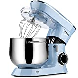 Vezzio Stand Mixer, 9.5 Qt 660W, 6-Speed Tilt-Head Food Dough Mixer, Kitchen Electric Mixer with Stainless Steel Bowl,Dough Hook,Whisk, Beater, Egg white separator (Blue)