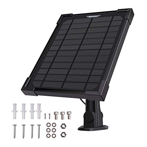 Renogy 5 Watt Solar Panel Charger Outdoor Security Cameras Compatible with Ring Spotlight Cam Battery