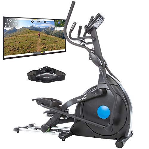 skandika Crosstrainer CardioCross Carbon Champ Ellipsentrainer mit 24,5kg Schwungmasse, Magnetbremssystem |...