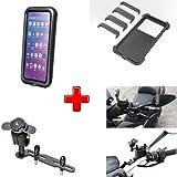 Compatible con Honda NC750X ABS Carcasa Universal para Smartphone RÍGIDO 78X165 + Soporte para Tapa Tanque DE Aceite Frenos O Embrague Motocicleta Scooter