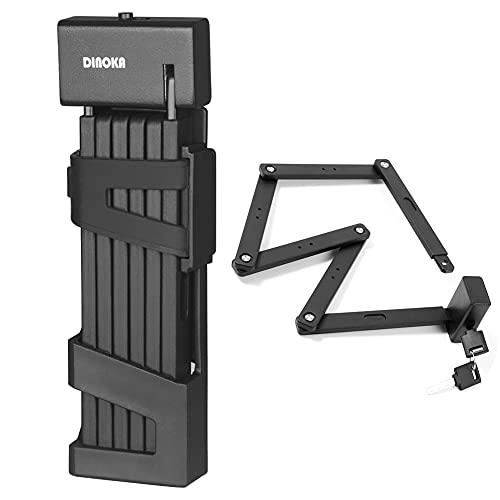 DINOKA Antivol de vélo, serrure de vélo pliante portable de 100 cm de long Très sûr et durable pour vélo, moto et porte