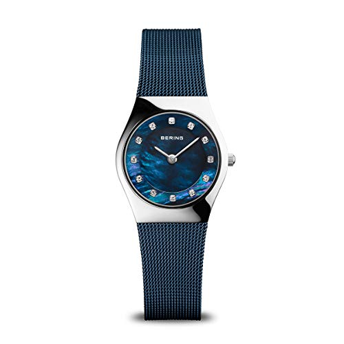 BERING Damen Analog Quarz Classic Collection Armbanduhr mit Edelstahl Armband und Saphirglas 11927-307