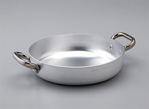 Pentole Agnelli Alluminio ALMA110PI28 Linea Tegame con Fondo a Induzione, 2 Manici, 28 cm, Acciaio