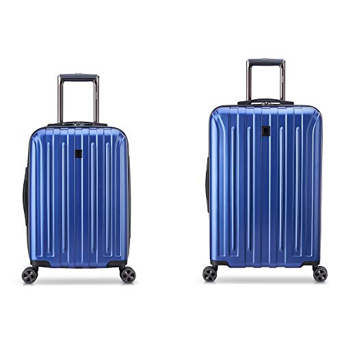 DELSEY Paris Titanium DLX Hardside Luggage with Spinner Wheels, Blue