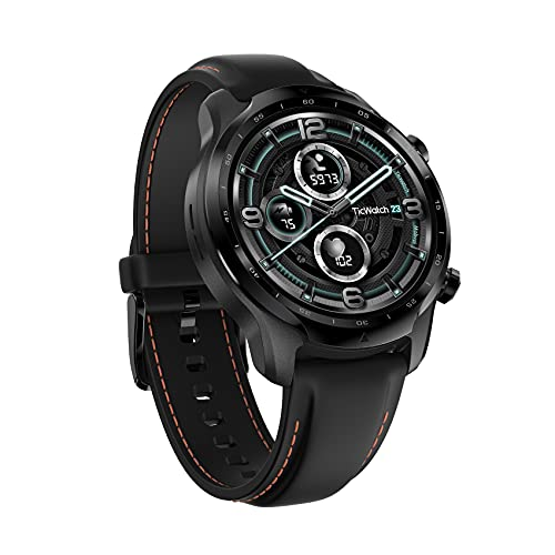 TicWatch Pro 3 GPS Smartwatch Unisex, Wear OS by Google, Display a doppio strato 2.0, Batteria a lunga durata, Nero (Shadow Black)