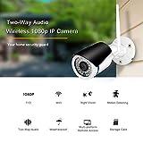 NOSSON Caméras Bullet, 720P sans Fil Filaire ONVIF P2P Alarme de...
