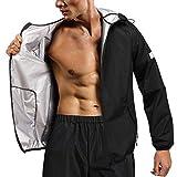 Chumian Vêtements Sauna Sudation Homme Sauna Costume survêtement Sudation pour...