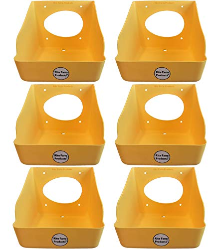 6 Pack Rite Farm Products Washable Poly Egg Nesting Box for Chickens