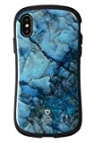 iFace First Class Marble iPhone XS/X ケース [ブルー]