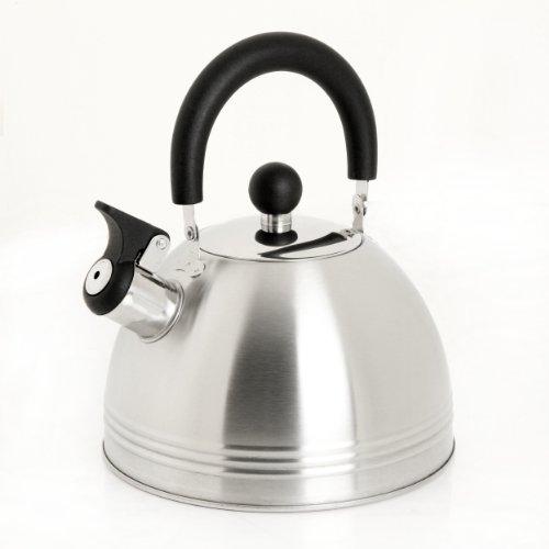 Mr. Coffee Carterton Stainless Steel Whistling Tea Kettle,...
