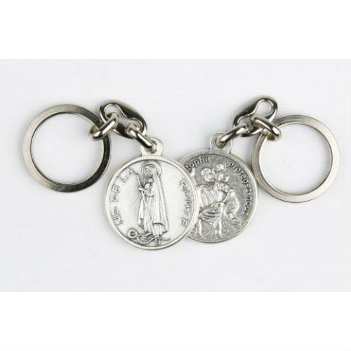Ilhorin Porte clés Double Face - Saint Christophe/Notre Dame de la Route -...