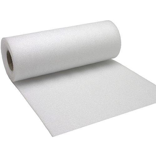 Insonorizzatore per pavimenti in parquet/laminato, tubo di pellicola in polietilene espanso, 1,25 m...