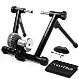 Alpcour Fluid Bike Trainer Stand – Portable Stainless Steel Indoor Trainer w/ Fluid Flywheel, Noise Reduction, Progressive Resistance, Dual-Lock System – Stationary Exercise for Road & Mountain Bikes