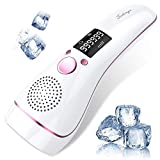 Ice Hair Removal at-Home for Women Permanent IPL Hair Removal Upgrade to 999,999 Flashe Professional Hair Remover Device Care with Icing Sense Painless Treatment Facial Body and Whole Body.