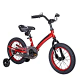 """Mobo First Bike with Training Wheels. 14"""" Toddler Bicycle for 3-5 Year Olds, Red"""