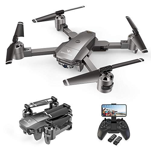 SNAPTAIN A15F Drone avec Caméra 1080P FHD 120° Grand Angle, Positionnement de Flux Optique, Fonction Suivez-Moi, Vole par Trajectoire, Contrôle par Voix et Gestes, Facile à Piloter, Autonomie 24 MN