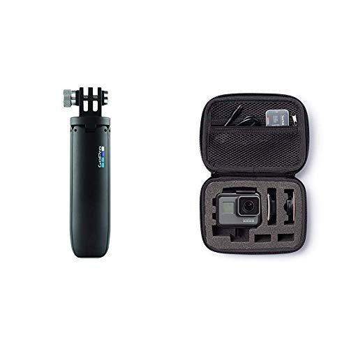 GoPro AFTTM-001 Mini Treppiede per Telecamere, Nero & Amazon Basics - Custodia per trasporto GoPro, misura Extra-Small