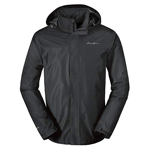 Eddie Bauer Men's Rainfoil Packable Jacket, Dk Smoke Regular XL
