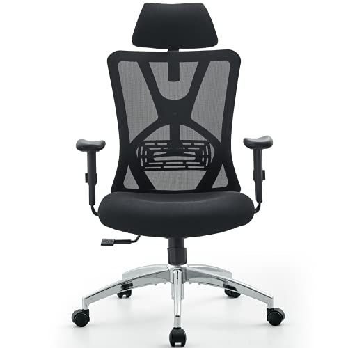 Product Image 1: Ticova Ergonomic Office Chair - High Back Desk Chair with Adjustable Lumbar Support & Thick Seat Cushion - 130°Reclining & Rocking Mesh Computer Chair with Adjustable Headrest, Armrest