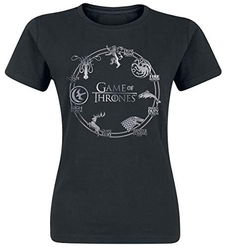 Game Of Thrones Juego de Tronos Logo Camiseta Negro L