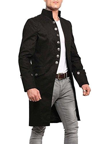 Leatherotics Mens Brocade Jacket Vintage Coat Frock Coat SPRR (Apparel)