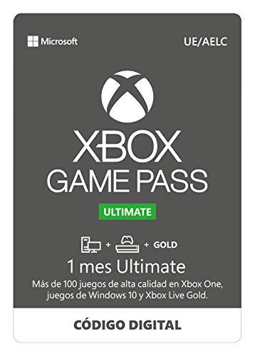 Suscripción Xbox Game Pass Ultimate - 1 Mes | Xbox/Win 10 PC - Código de descarga