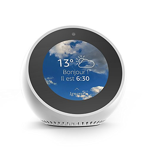 Amazon Echo Spot, Réveil connecté avec Alexa, Blanc