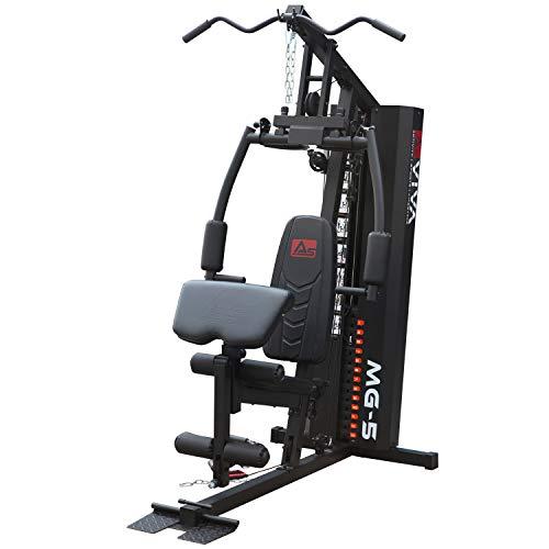 AsVIVA Kraftstation MG5 Pro, 35in1, 90 kg Multi-Gym (inkl. 90 kg Gewichtsblöcke), Massive Fitnessstation,...