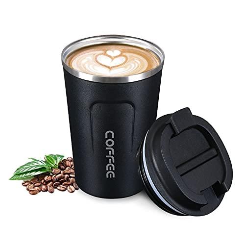 flintronic Tasse de Café Isolée, 380ml Mug de Voyage en Acier Inoxydable,...
