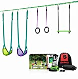 slackers Swing Line - Turn Healthy Trees Into The Perfect Backyard Swingset - slackers Tree Swing Line Kit - Great Tree Swing Addition to Any Yard - Recommended for Ages 3+
