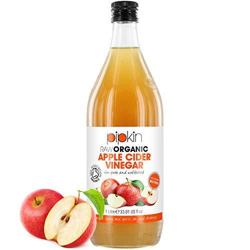 Pipkin 100% Organic Bio Apfelessig mit der Essigmutter, Rohes und Rein, Koscher, 1000ml