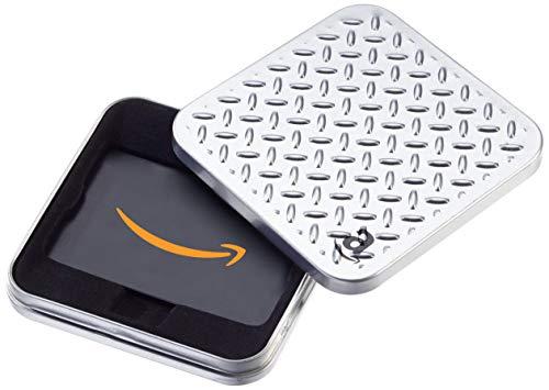 Amazon.de Geschenkkarte in Geschenkbox (Metallmuster)