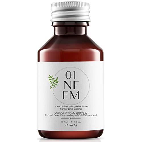 Nolavea Neemöl 100% Pflanzlich - 100 ml - Bio Vegan Kaltgepresst Nativ - Erstpressung - Behandlung Haaren, Haut, Garten - Regulierend, Feuchtigkeitsspendend, Nährend