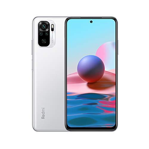 Xiaomi Redmi Note 10 Smartphone RAM 4GB ROM 128GB 6.43' AMOLED DotDisplay 5000mAh (typ) Batterie Charge Rapide 33W 48MP Wide-Angle Caméra Blanc [Version Globale]