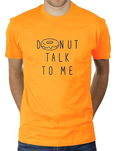 Donut Talk to Me - Camiseta para hombre de KaterLikoli oro amarillo M