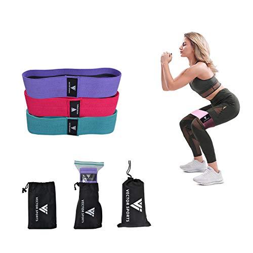 Elastici Fitness (3 Pezzi), Bande Elastiche di Resistenza Set di 3 Colorate Fasce Elastiche Fitness...