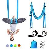 Sotech Hamaca de Yoga, Columpio de Yoga/Yoga Aéreo/Yoga Trapeci, Antigravedad Swing Sling Inversión, Carga Máx 300 kg (Turquesa)
