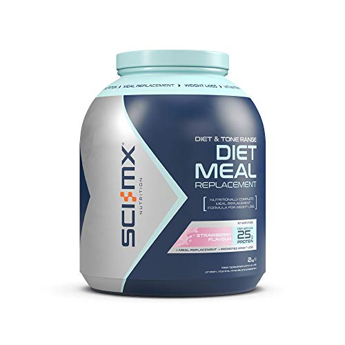 SCI-MX Nutrition Diet Meal Replacement, Protein Powder Meal Shake, 2 kg, Strawberry, 37 Servings