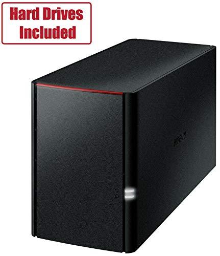 BUFFALO LinkStation SoHo 2-Bay Desktop 8TB Home Office Personal Cloud NAS with Hard Drives Included