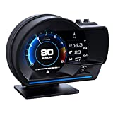 ヘッドアップディスプレイ スピードメーター ACECAR OBD2+GPSモード タコメーター 故障診断 ECUのデータを読み取る 表示改良 警告機能付き