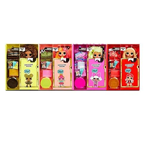 Image 1 - L.O.L. Surprise! 422020 O.M.G. Lot de 4 poupées O.M.G. Fashion Dolls de la série 1 avec vêtements et Nombreux Accessoires au Total Plus de 80 Surprises