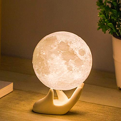 Moon Lamp Balkwan 3.5 inches 3D Printing Moon Light uses...