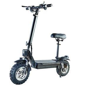 ZBB Scooters eléctricos Adultos Plegables Carga máxima de 200 kg con Asiento Batería de Litio de 48 V con Frenos de…