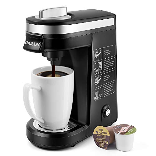 CHULUX Single Serve Coffee Maker Brewer for Single Cup Capsule...